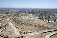 Tempe Arizona horisont som ser östlig royaltyfria bilder
