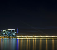 Tempe Arizona skyline at night Royalty Free Stock Photos