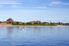 Tempe Lake, Arizona Royalty Free Stock Images