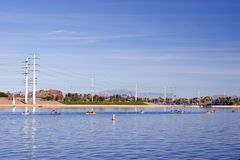 Tempe Lake, AZ Royalty Free Stock Photography