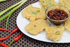 Tempe mendoan, indonesische Küche Lizenzfreie Stockfotografie