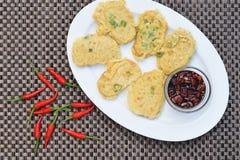Tempe mendoan, indonesische Küche Lizenzfreie Stockfotos