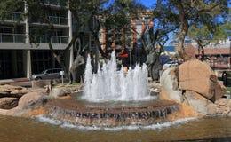 Tempe, o Arizona: Fonte do coelho no centro da cidade Fotos de Stock Royalty Free
