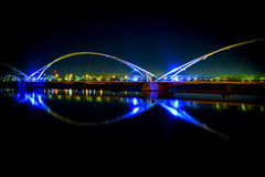 Tempe Town Lake bridge stock photo