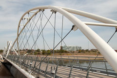 Tempe Town Lake Dam Walking bro Royaltyfri Foto