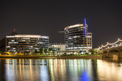 Tempe Town Lake la nuit Photographie stock
