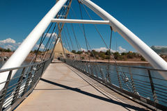 Tempe Town Lake Pedestrian Suspension bro Arkivfoto