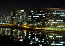Tempe-Ufergegend-Nacht Stockfotos
