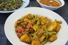 Tempeh Stir Fry with Sambal Chili Royalty Free Stock Photo
