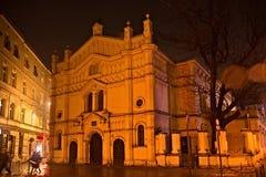 Tempel犹太教堂在克拉科夫卡齐米日区  免版税库存照片