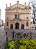 Tempel犹太教堂在克拉科夫 图库摄影