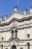 Tempel犹太教堂门面在克拉科夫,波兰犹太区  库存图片