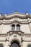 Tempel犹太教堂门面在克拉科夫,波兰犹太区  免版税库存照片