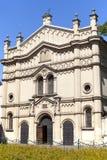 Tempel犹太教堂门面在克拉科夫,波兰犹太区  图库摄影