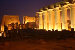 Tempel Ägypten-Luxor Lizenzfreie Stockfotos
