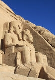 Tempel Abu Simbel Stockbild