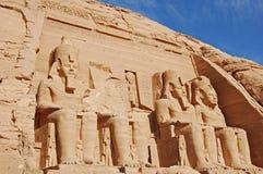 Tempel in Abu Simbel, Egypte royalty-vrije stock foto's