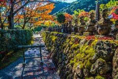 Tempel Adashino Nenbutsu-ji, Tokyo Stockfotos