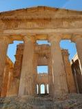 Tempel in Agrigent stockbilder