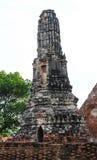 Tempel alt in Wat Chai Watthanaram Stockfotos