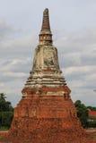 Tempel alt in Wat Chai Watthanaram Lizenzfreies Stockbild