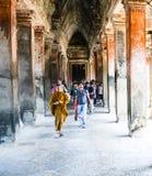 Tempel in Anghor Wat Stockbild