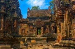 Tempel in angkor Stock Afbeeldingen