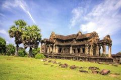 Tempel in Angkor Wat Stock Afbeelding