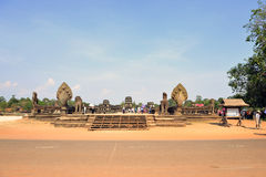 Tempel Angkor Wat Cambodia arkivbild