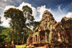 Tempel in Ankor Wat stockfoto