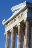 Tempel Athena Nike op Akropolis van Athene Stock Foto