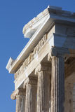Tempel Athena Nike op Akropolis van Athene in Griekenland Stock Foto's