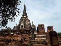 Tempel atutthaya in Thailand stockfotos
