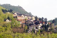 Tempel auf dem Berg. Lizenzfreie Stockfotos