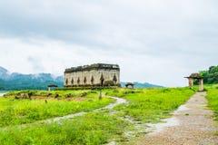 Tempel auf dem Verdammungsgrüngebiet Stockfotografie