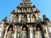 Tempel auf Khao Takeab Berg in Thailand Lizenzfreie Stockbilder