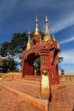Tempel auf Khao Takeab Berg in Thailand Lizenzfreie Stockfotografie