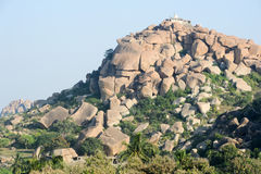 Tempel auf Matanga-Hügel bei Hampi Stockfotografie