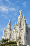 Tempel auf Tibidabo, Barcelona Stockfotografie