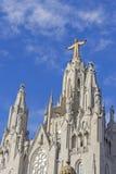 Tempel auf Tibidabo, Barcelona Stockbild