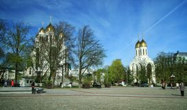 Tempel auf Victory Square lizenzfreies stockbild