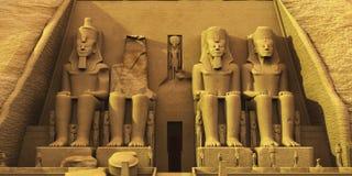 Tempel av Abu Simbel Royaltyfri Foto