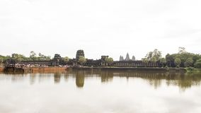 Tempel av Angkor, Angkor Wat - ett jätte- komplex för hinduisk tempel i Cambodja, Royaltyfri Foto
