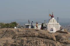 Tempel av apaguden Hanuman Hampi Indien Fotografering för Bildbyråer