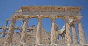 Tempel av Aphaea Aegina ö Grekland royaltyfria bilder