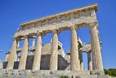 Tempel av Aphaia Aegina Grekland royaltyfri bild