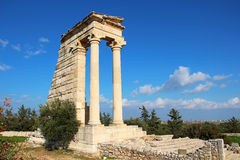 Tempel av Apollo, Cypern Arkivbild