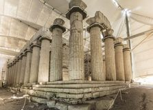 Tempel av Apollo Epicurius, Argolida, Grekland Royaltyfria Bilder