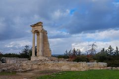 Tempel av Apollo Hylates i Cypern arkivbilder