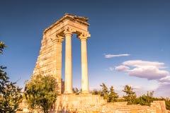 Tempel av Apollo Hylates, Limassol område, Cypern Royaltyfri Fotografi